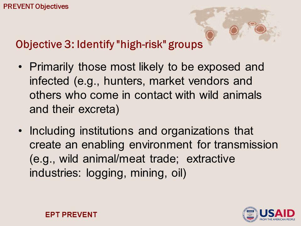 EPT PREVENT Objective 3: Identify