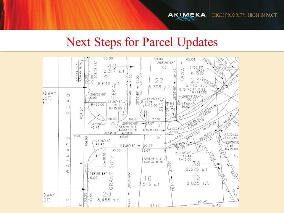 Next Steps for Parcel Updates
