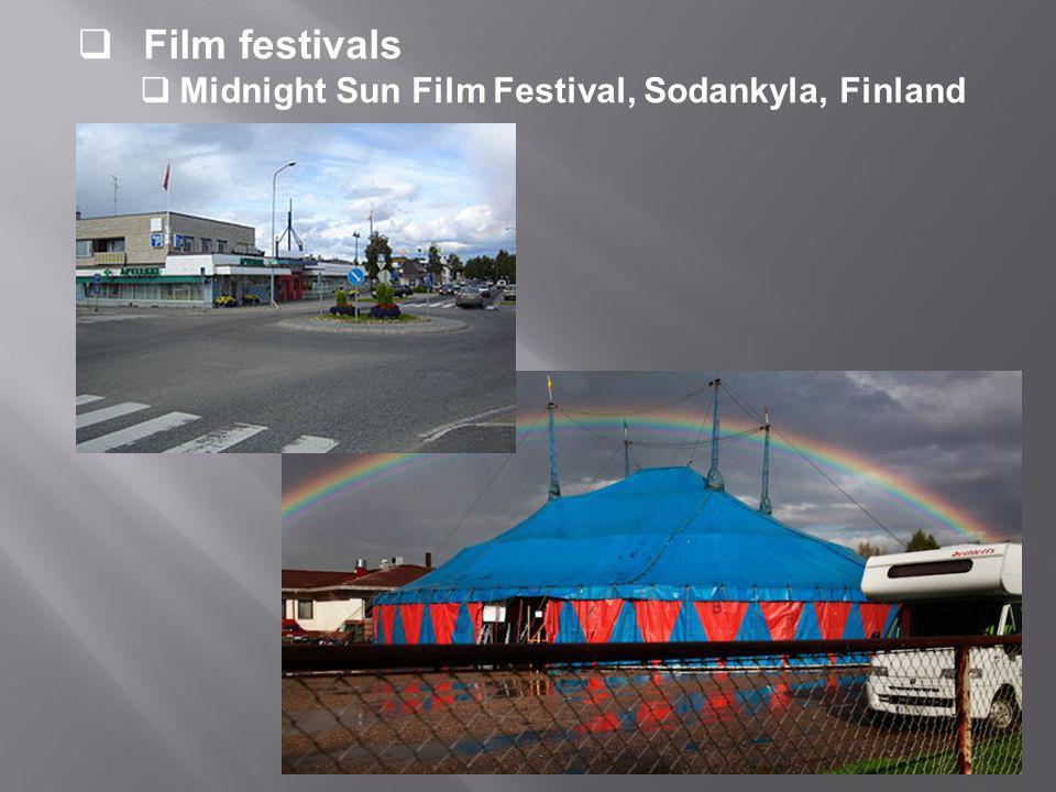 Film festivals  Midnight Sun Film Festival, Sodankyla, Finland