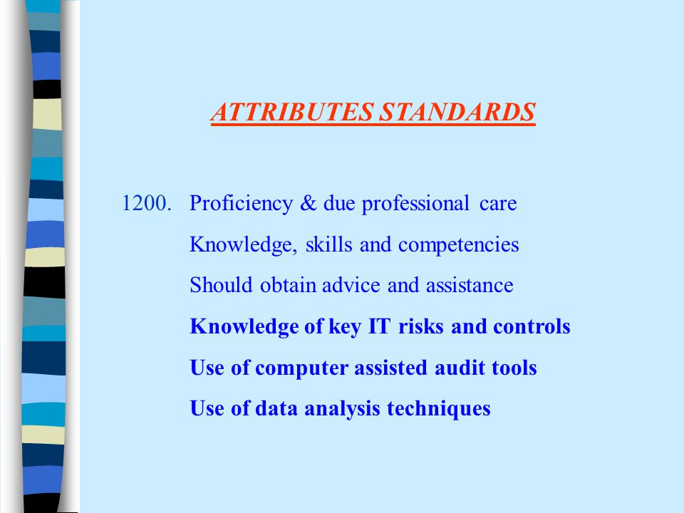 ATTRIBUTES STANDARDS 1200.