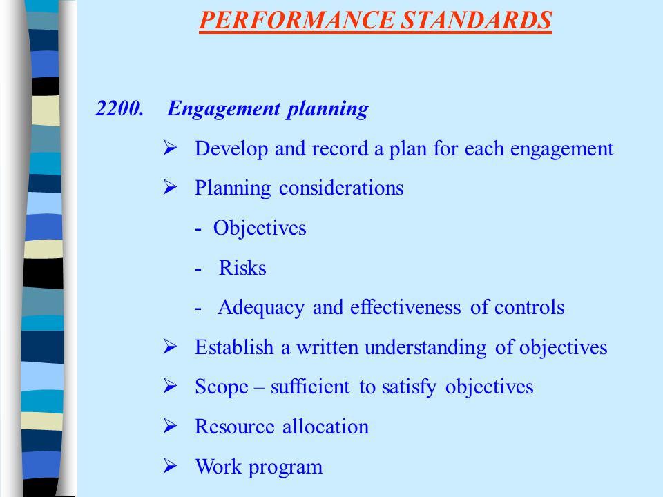 PERFORMANCE STANDARDS 2200.