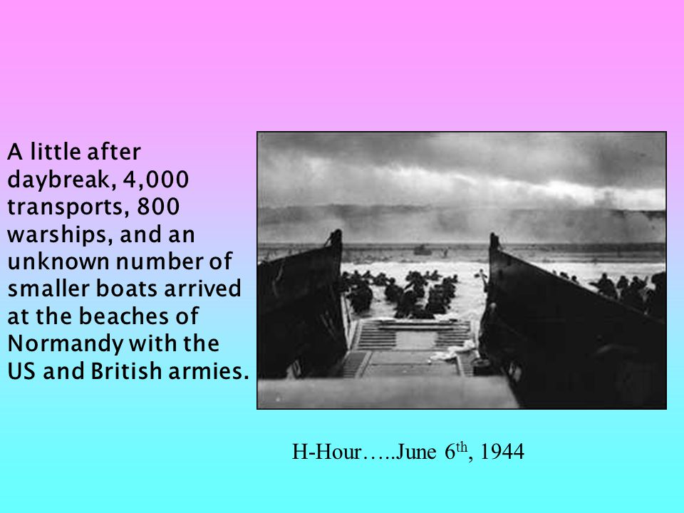 The Allies invaded five beaches: Utah, Omaha, Gold, Juno, and Sword.