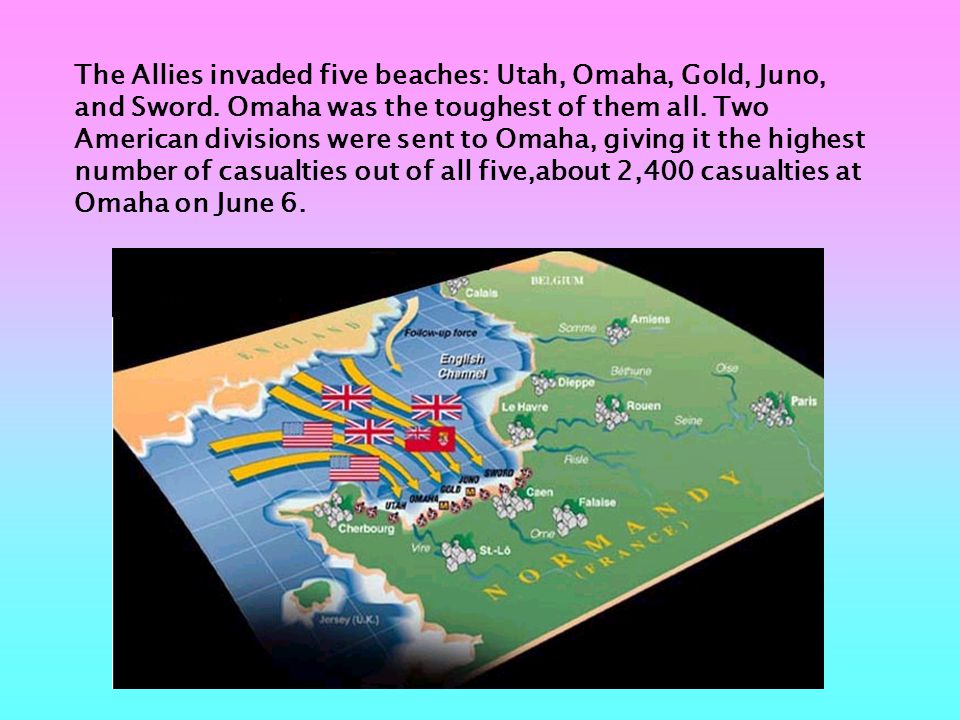 Omaha consisted of 8 concrete bunkers, 35 pillboxes, 4 artillery batteries, 18 anti-tank guns, 35 rocket launching sites, no less than 85 machine gun nests, and countless Germans with small arms.