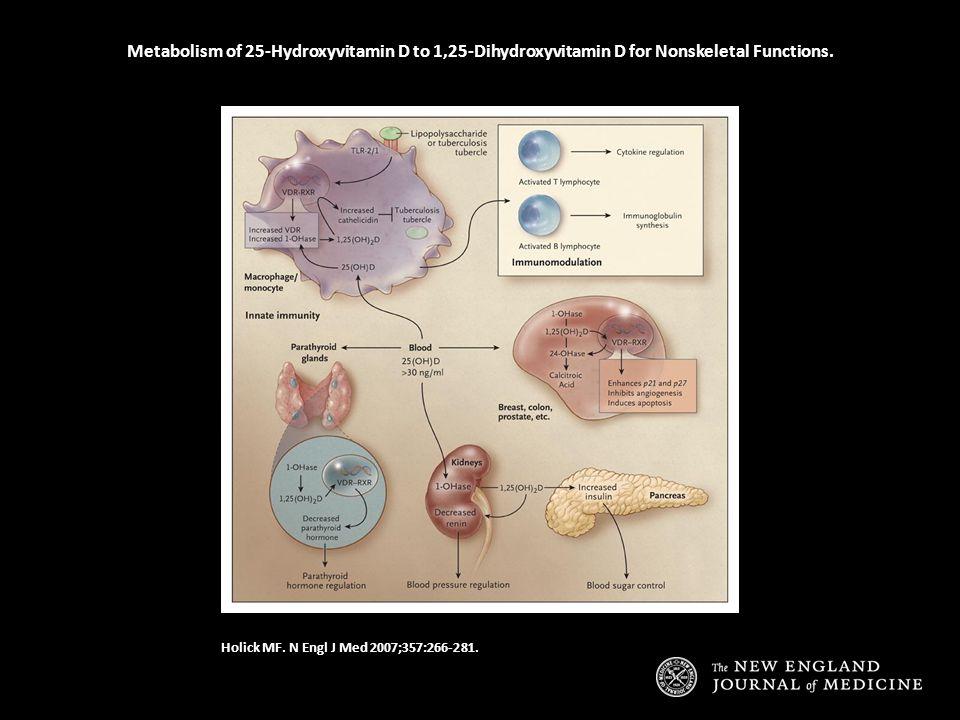Metabolism of 25-Hydroxyvitamin D to 1,25-Dihydroxyvitamin D for Nonskeletal Functions.
