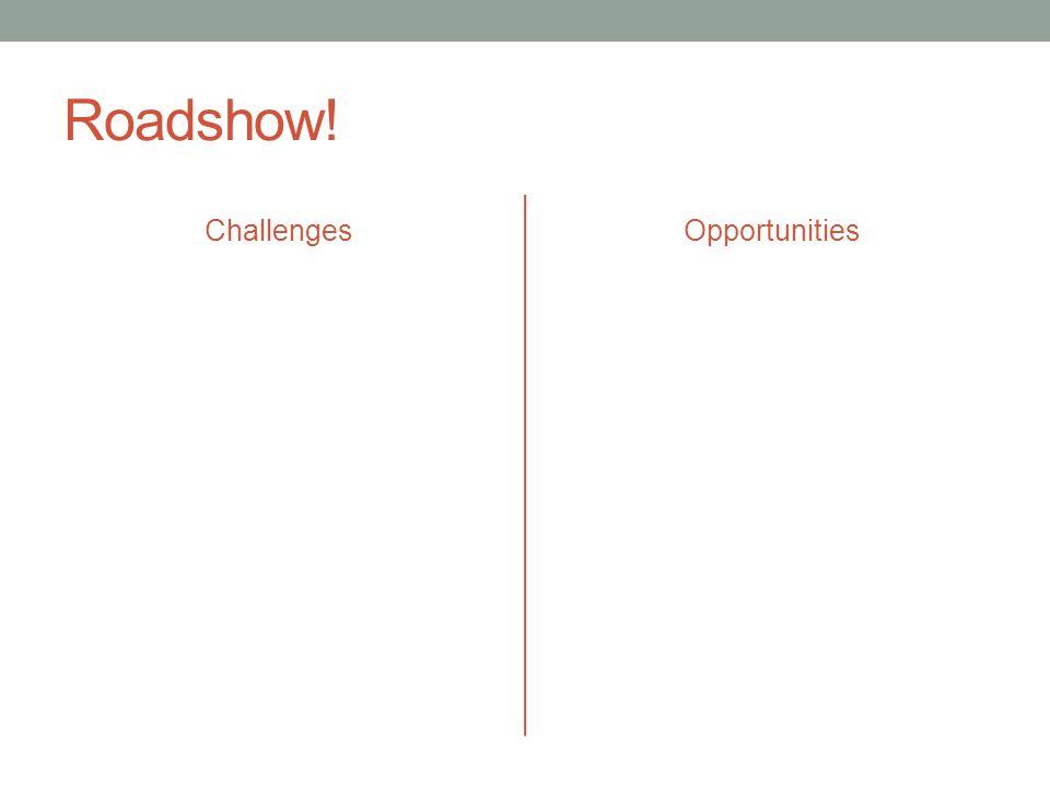 Roadshow! ChallengesOpportunities