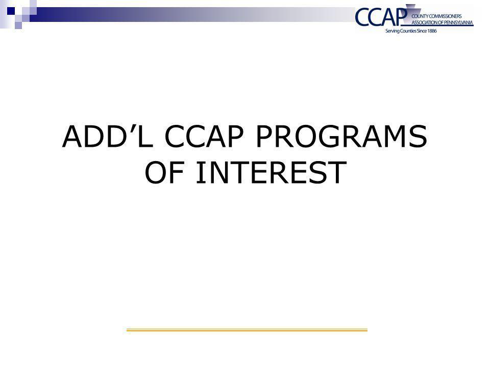 ADD'L CCAP PROGRAMS OF INTEREST
