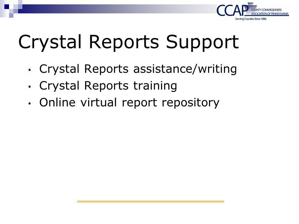 Crystal Reports Support Crystal Reports assistance/writing Crystal Reports training Online virtual report repository