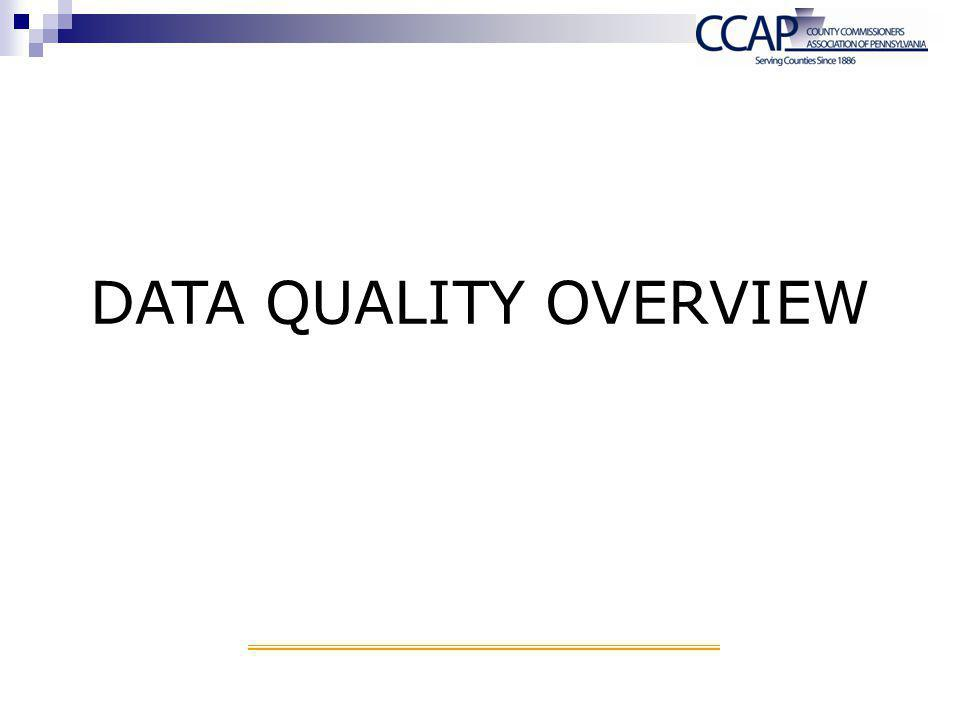 DATA QUALITY OVERVIEW