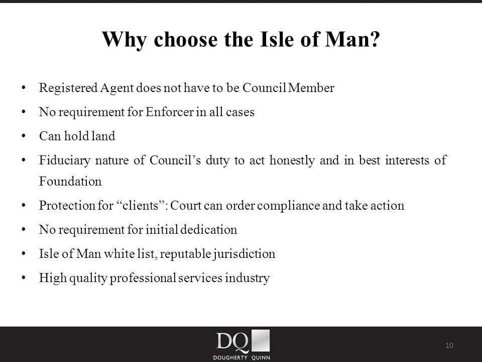 10 Why choose the Isle of Man.