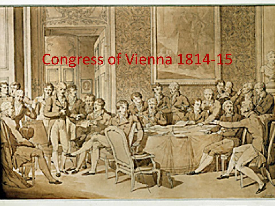 Congress of Vienna 1814-15