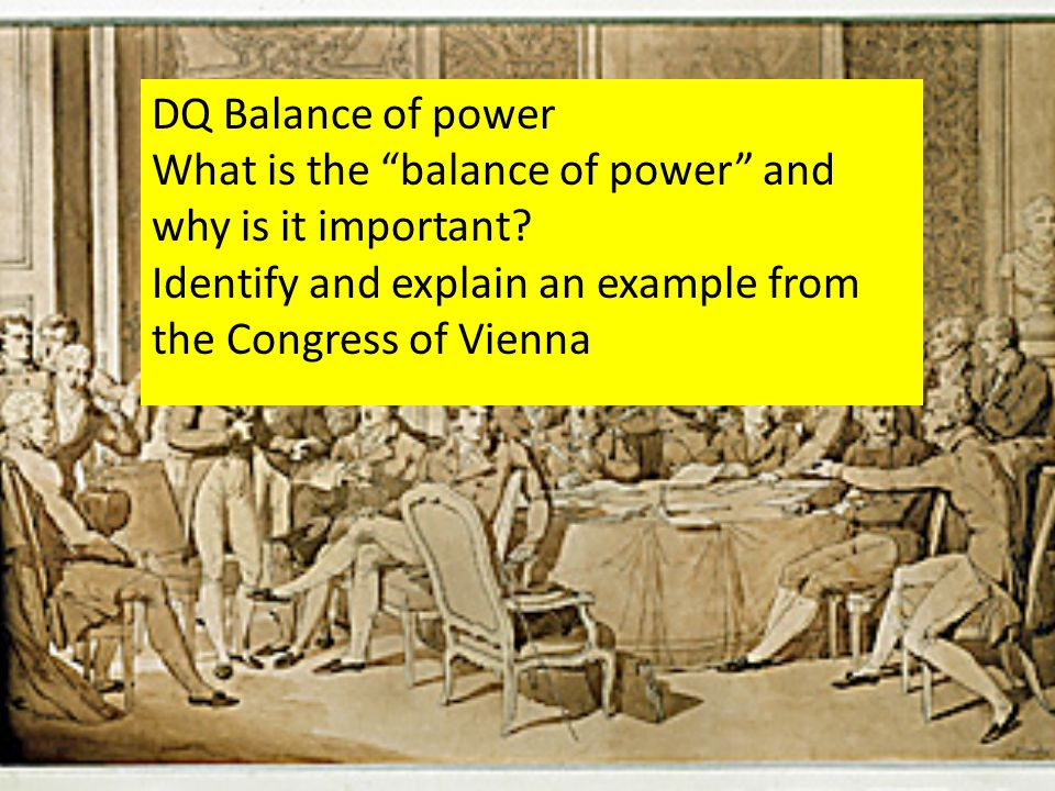 DQ Balance of power What is the balance of power and why is it important.