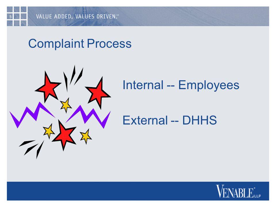5 Internal -- Employees External -- DHHS Complaint Process