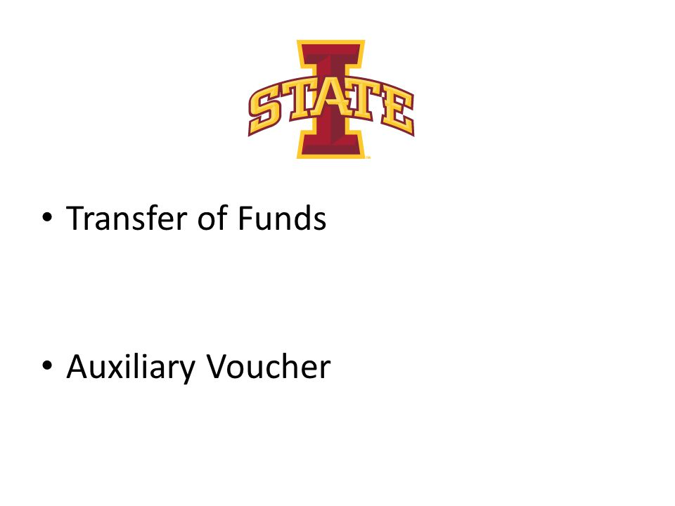 Transfer of Funds Auxiliary Voucher