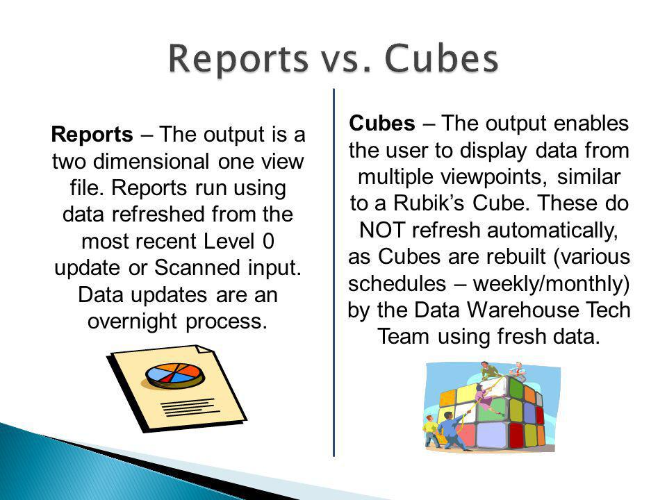 Reports – The output is a two dimensional one view file.