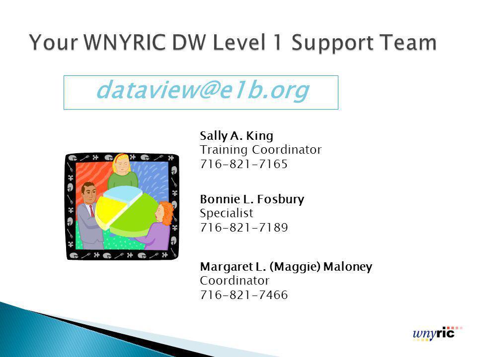 Margaret L.(Maggie) Maloney Coordinator 716-821-7466 Bonnie L.