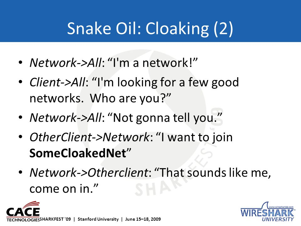 """SHARKFEST '09 