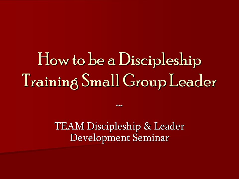 Qualifications for Disciplers You should maintain the same disciplines you are teaching disciples to observe (e.g.