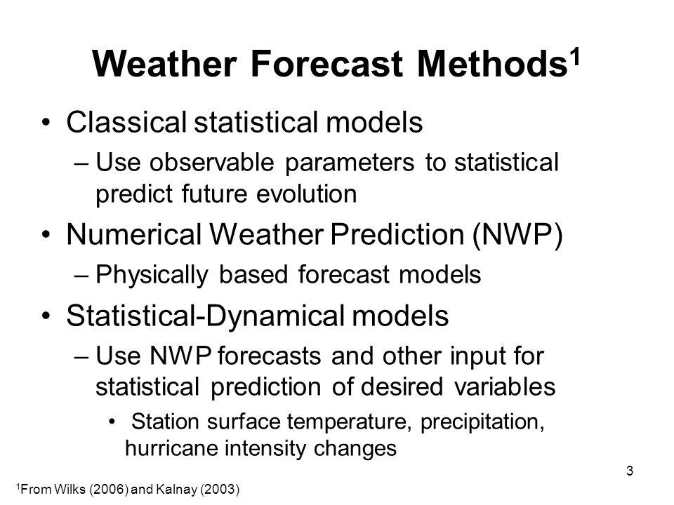 Example of Forecast Technique Evolution: Tropical Cyclone Track Forecasts 1954 – NHC begins quantitative track forecasts –Lat, lon to 24 h To 48 h in 1961, to 72 h in 1964, to 120 h in 2003 –No objective guidance through 1958 1959-1996: Barotropic NWP –NMC, SANBAR, VICBAR, LBAR 1959-1972: Classical statistical models –MM, T-59/60, NHC64/72, CLIPER, HURRAN 1973-1990: Statistical-Dynamical models –NHC73, NHC83, NHC90 1976-present: Baroclinic NWP –MFM, QLM, GFDL, HWRF, COAMPS-TC, Global models 2006-present: Consensus methods 4