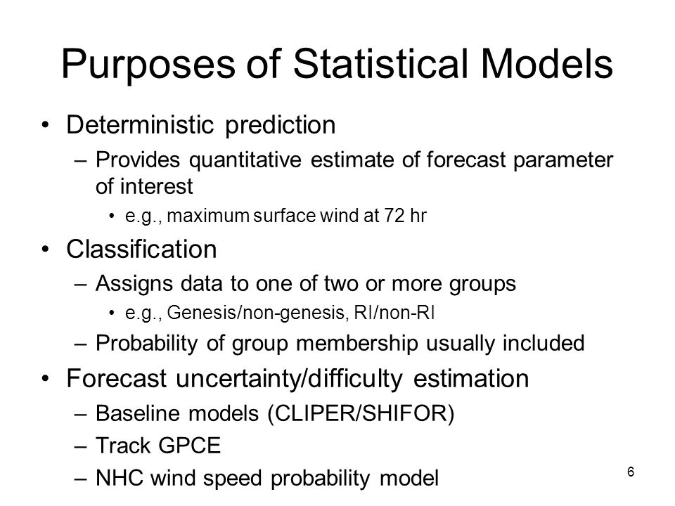 Consensus Models Special case of statistical-dynamical models Simple consensus –Linear average of from several models ICON is average of DSHP, LGEM, HWFI, GFDI Corrected consensus –Unequally weighted combination of models Florida State Super Ensemble SPICE: SHIPS/LGEM runs with several parent models JTWC's S5XX, S5YY 37