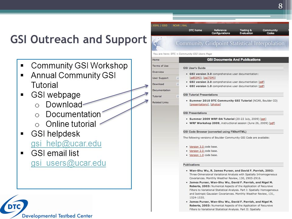  Community GSI Workshop  Annual Community GSI Tutorial  GSI webpage o Download o Documentation o Online tutorial  GSI helpdesk gsi_help@ucar.edu gsi_help@ucar.edu  GSI email list gsi_users@ucar.edu gsi_users@ucar.edu GSI Outreach and Support 8