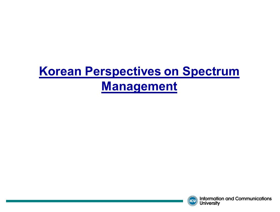 Requirement for Future Spectrum Management  Facing More and More Complications  Ever Increasing Demands and Values for Frequency Spectrum  Convergence of Diverse Services Differentiation among Services or Systems ambiguous Especially for the 4-G Services  Appearance of New Unpredicted Services Flexibility of Spectrum Use needed  Globalization and De-regularization Trends  Need of Long-and–Medium Term Frequency Spectrum Planning