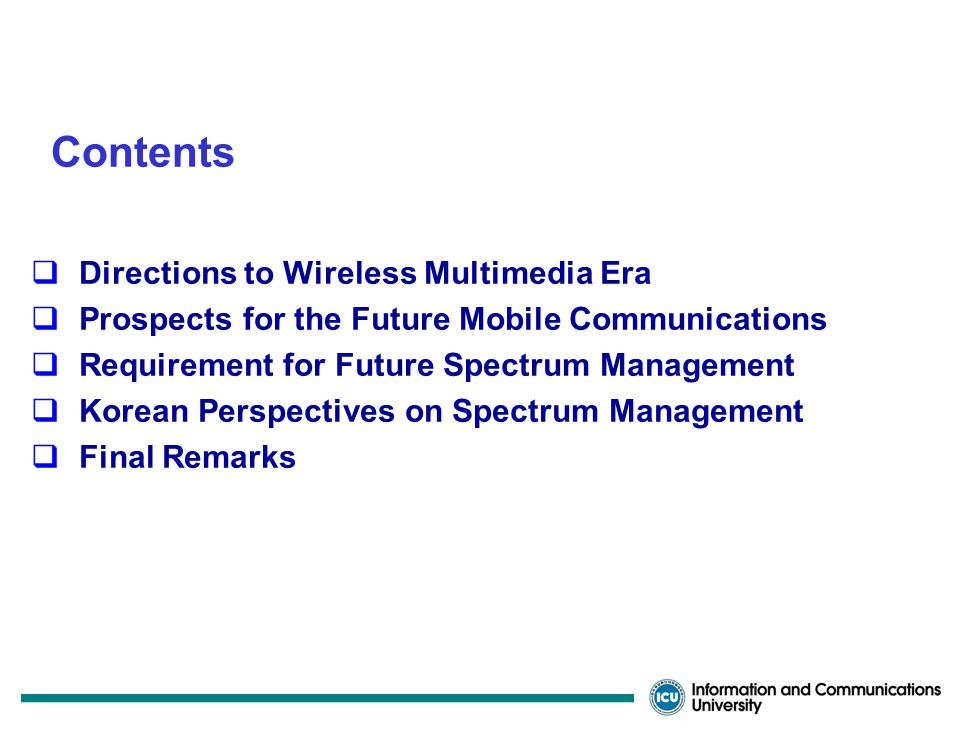 Convergence of Wireless Access and Spectrum Allocations Mar.