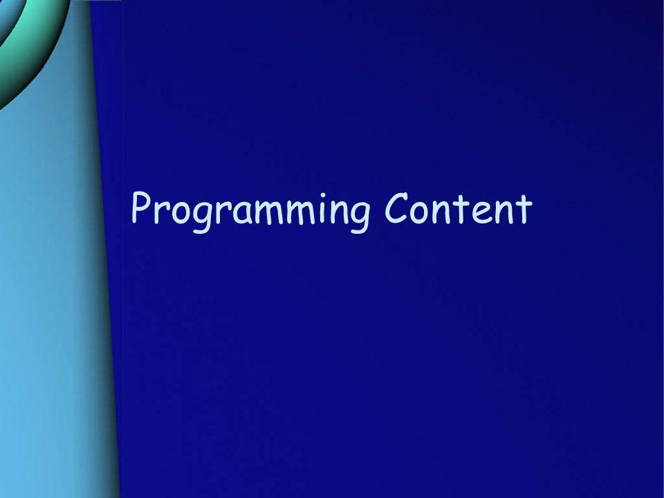 Programming Content