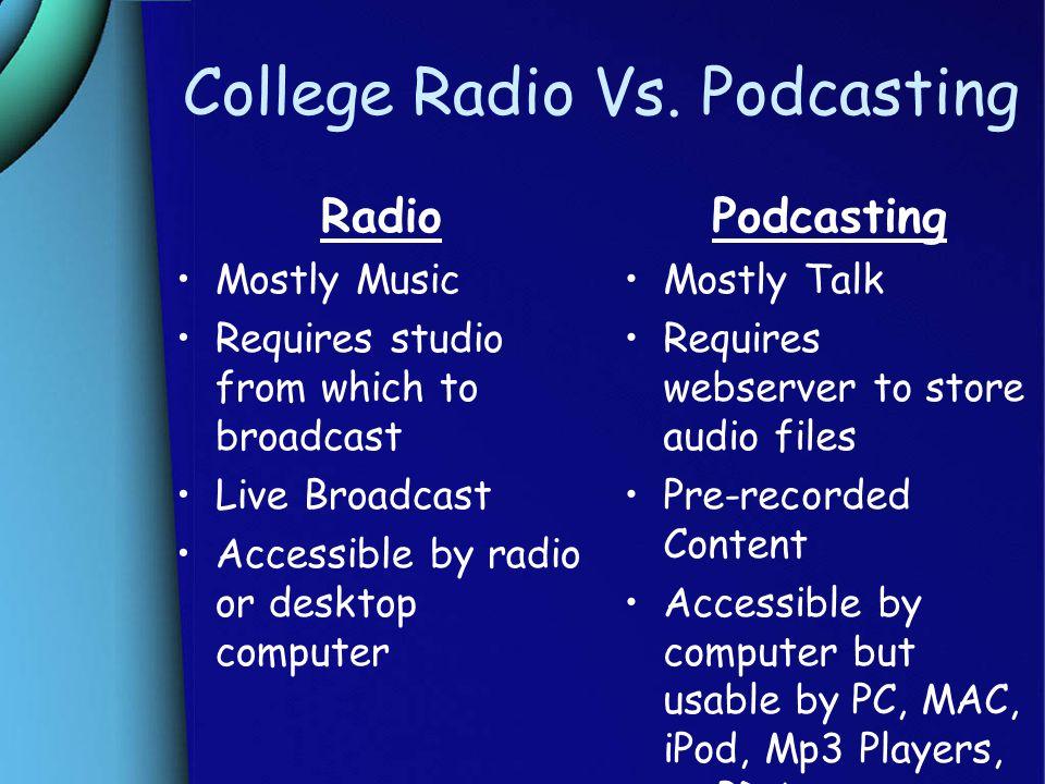 College Radio Vs.
