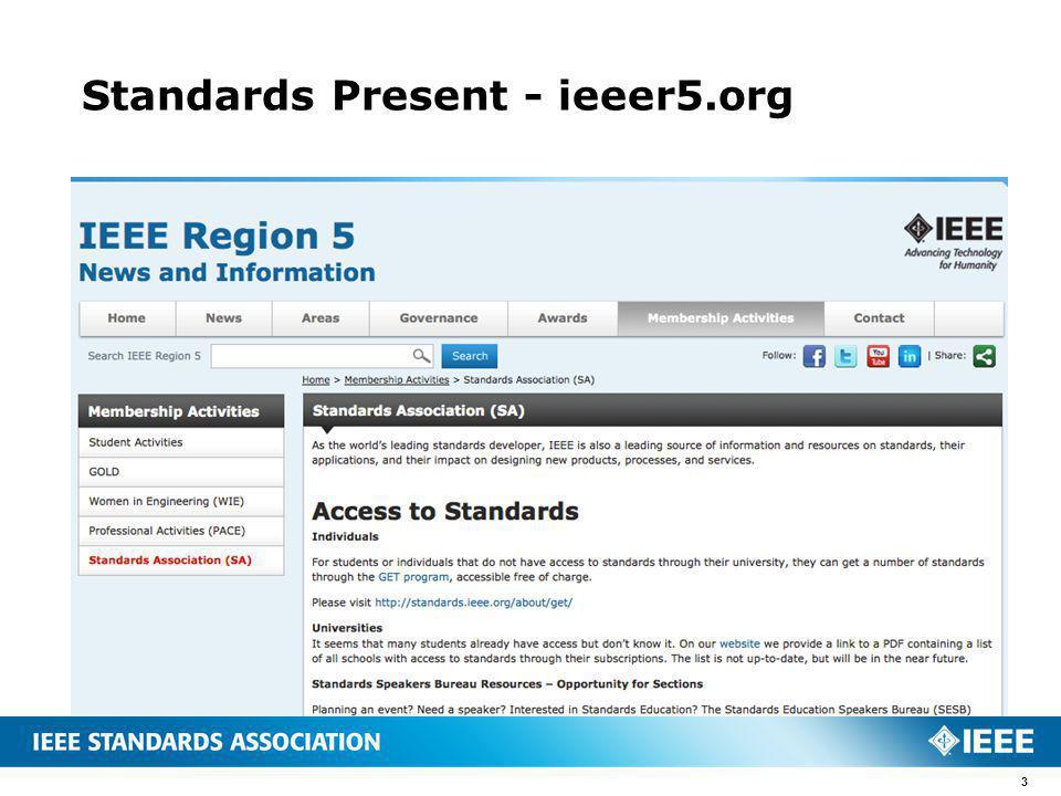 Standards Present - ieeer5.org 3
