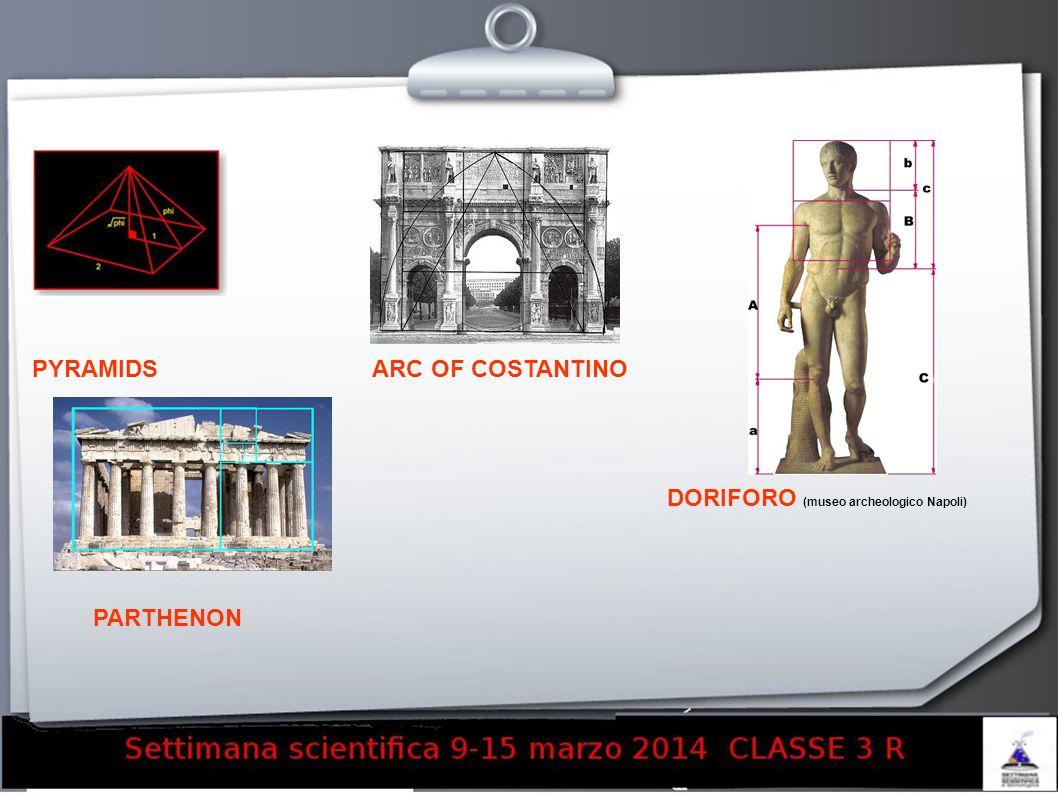 PYRAMIDS PARTHENON ARC OF COSTANTINO DORIFORO (museo archeologico Napoli)