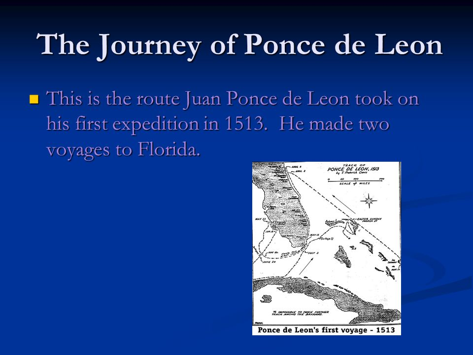 The Ships Ponce de Leon led three ships during his voyages.