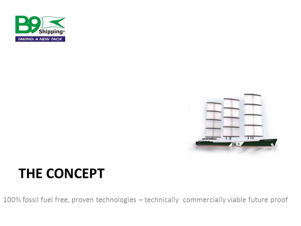 THE CONCEPT 100% fossil fuel free, proven technologies – technically commercially viable future proof
