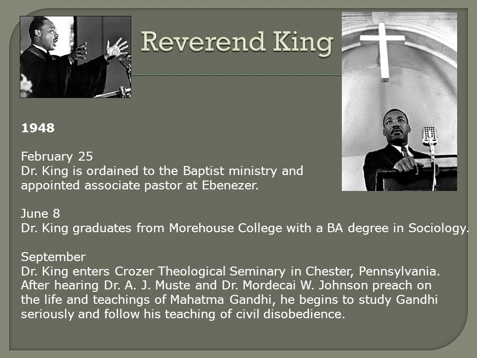 1935 – 1944 Dr. King attended David T. Howard Elementary School, Atlanta University Laboratory School, and Booker T. Washington High School. He passed