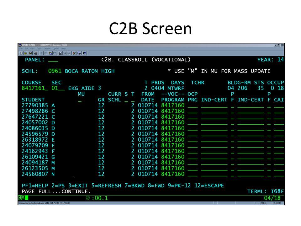 C2B Screen
