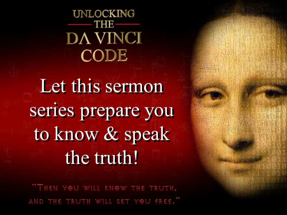 Let this sermon series prepare you to know & speak the truth!