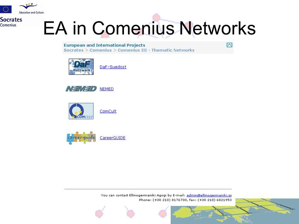 EA in Comenius Networks