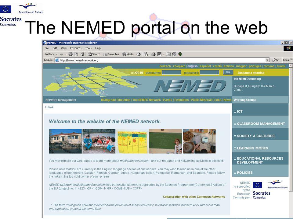 The NEMED portal on the web