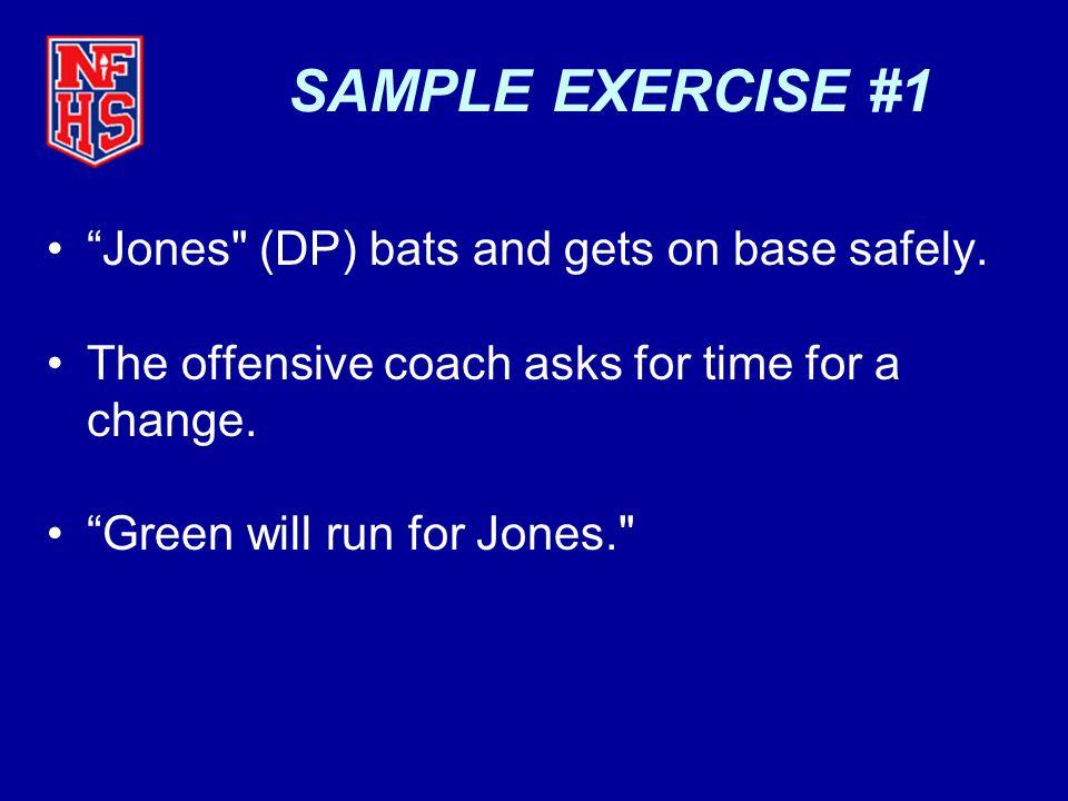 "SAMPLE EXERCISE #1 ""Jones"