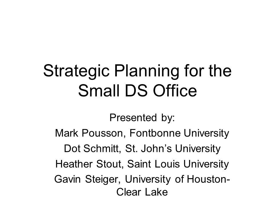 Presented by: Mark Pousson, Fontbonne University Dot Schmitt, St.