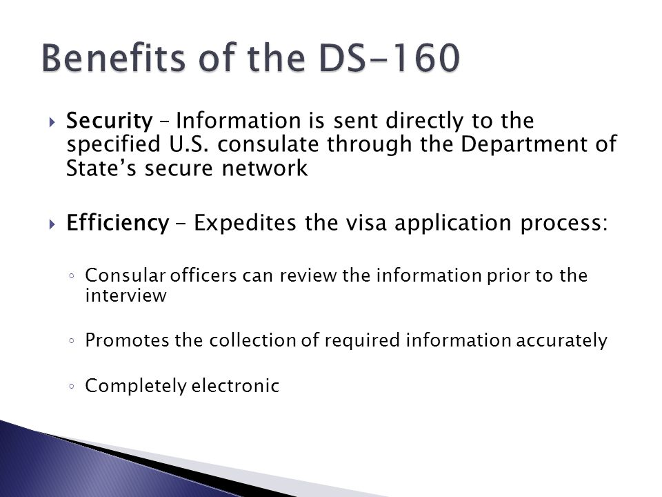  Security – Information is sent directly to the specified U.S.