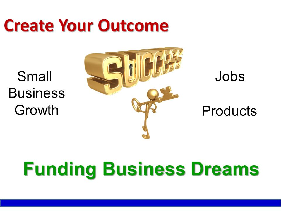 Create Your Outcome JobsSmall Business Growth Funding Business Dreams Products