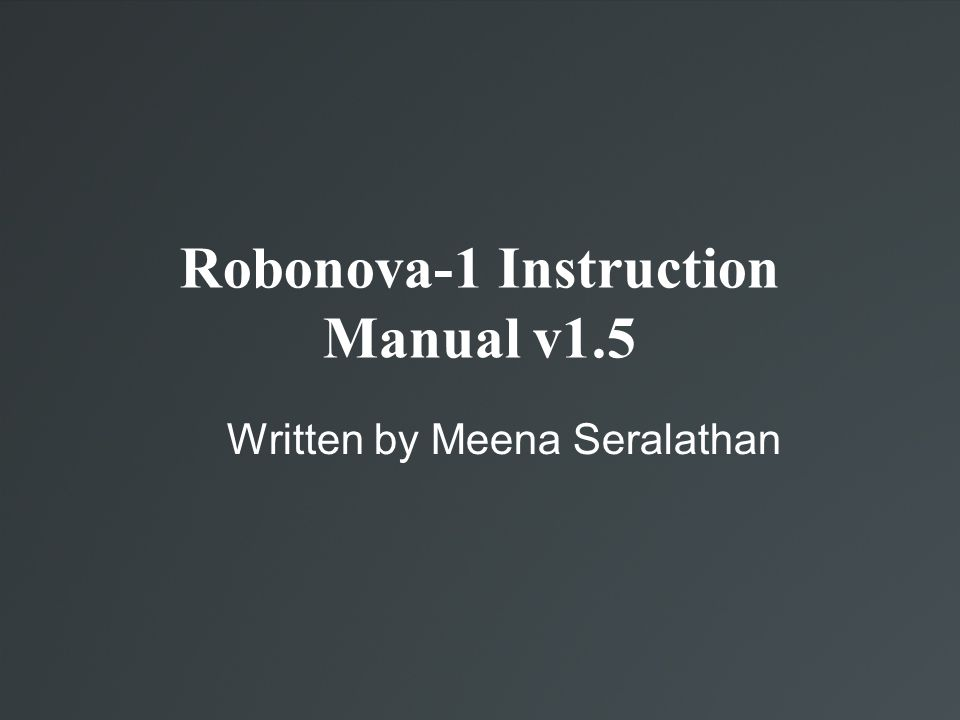 A Deeper Glimpse at RoboBASIC Quick Index of RoboBASIC Commands