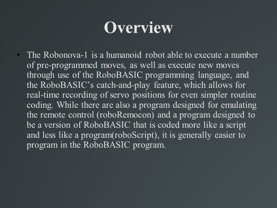 Even More on Using RoboBASIC These are more shortcuts, dealing more specifically with the robot controller.