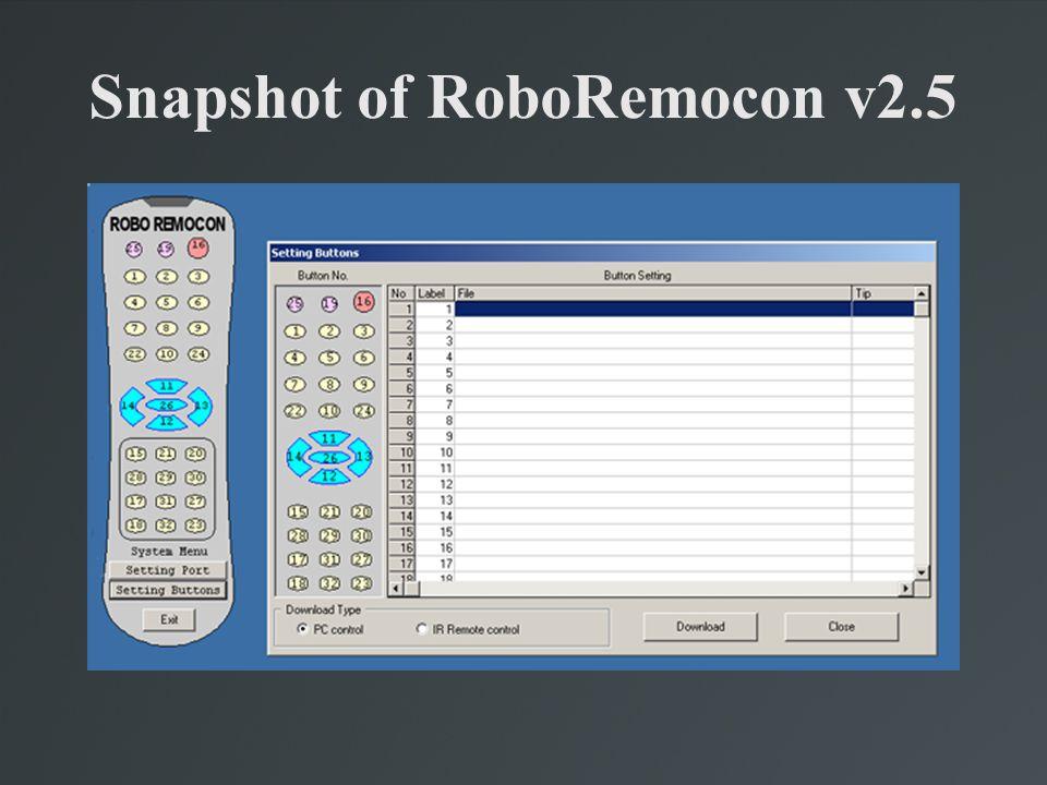 Snapshot of RoboRemocon v2.5