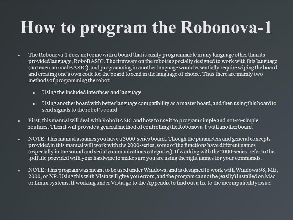 Using RoboRemocon v2.5