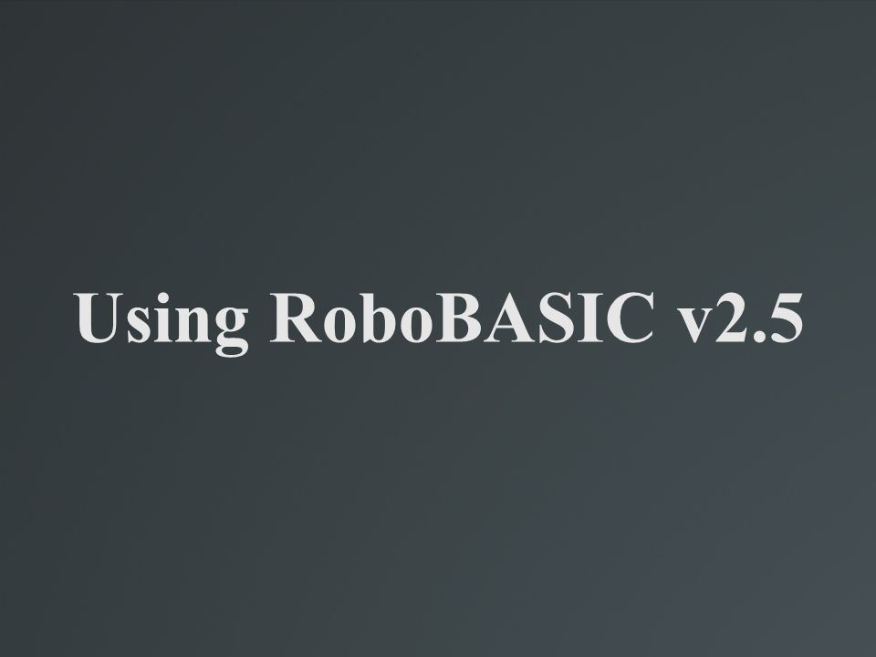 Overview of RoboRemocon v2.5 This program is not meant for programming the robot; rather, it is meant to set the actions that will be carried out when specific buttons are pressed on the included remote control.