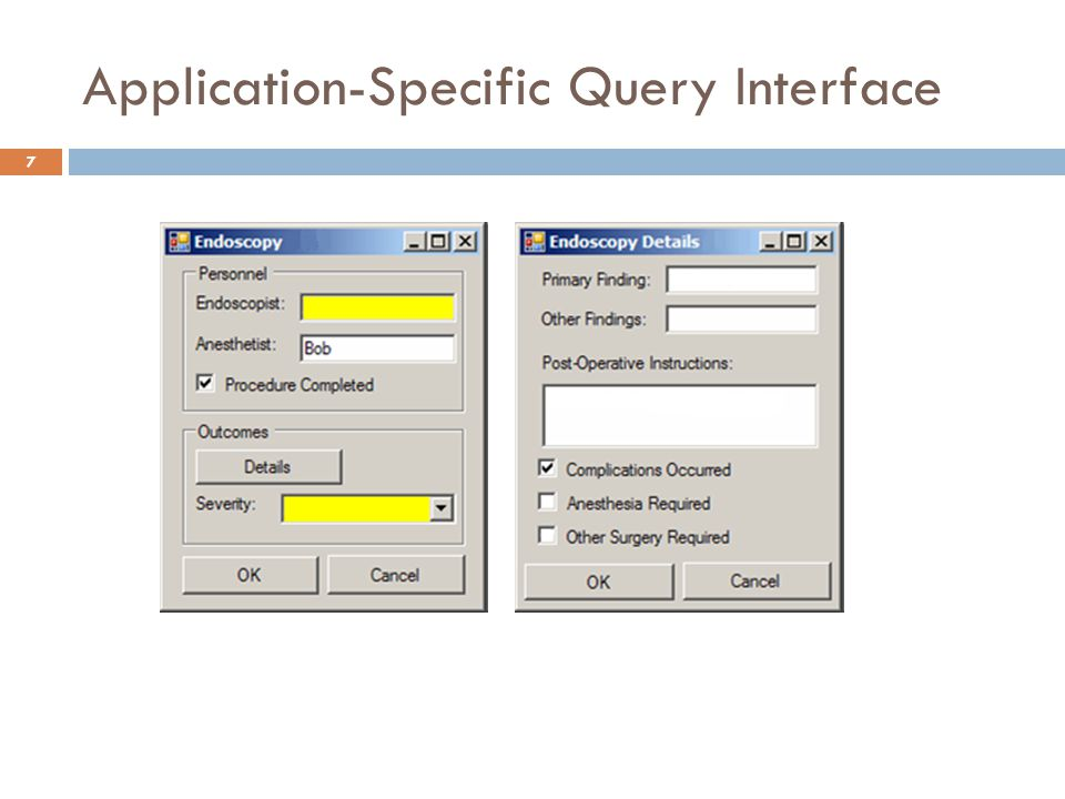 Application-Specific Query Interface 7