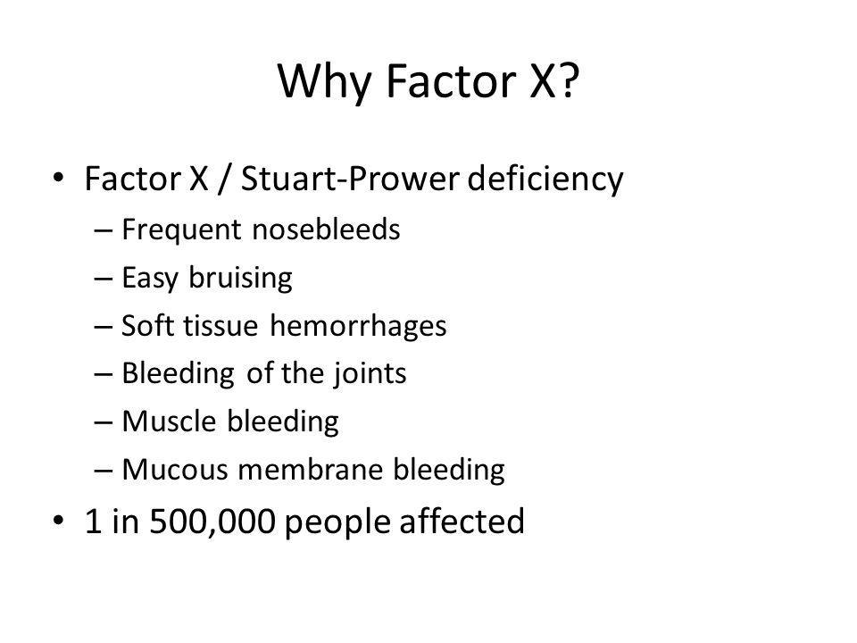 Why Factor X.