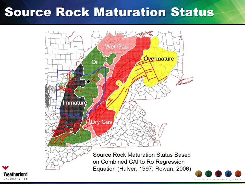 © 2009 Weatherford Laboratories. All rights reserved. Source Rock Maturation Status