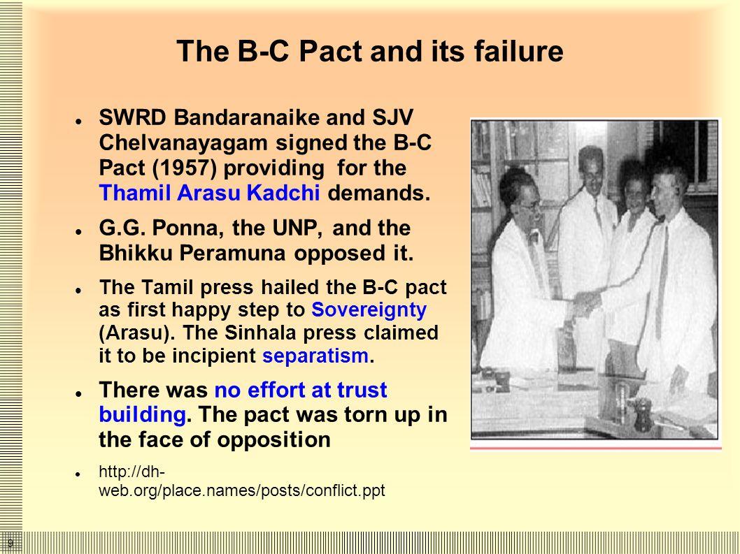 10 TULF, Vadukoddai (Batakotte) and Militancy Increasing tempo of communal riots (1939, 1956, 1958, 1977, 1981, 1983).